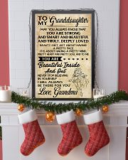 TO MY granddaughter- grandma 16x24 Poster lifestyle-holiday-poster-4