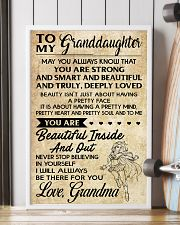 TO MY granddaughter- grandma 16x24 Poster lifestyle-poster-4