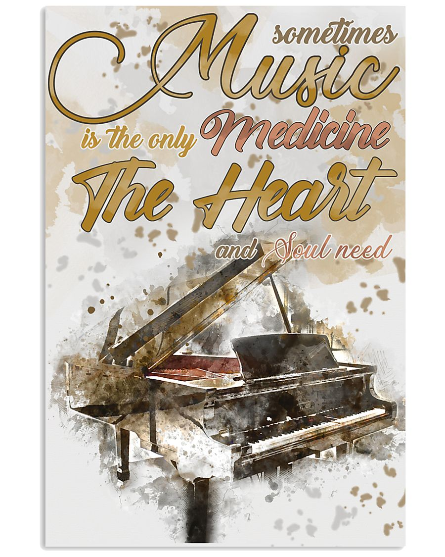 Piano Medicine The Heart Poster 11x17 Poster