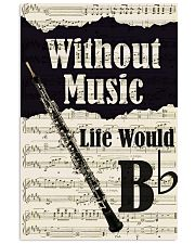 WITHOUT MUSIC LIFE WOULD - OBOE POSTER 11x17 Poster front