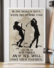 Golf Fight Them Together Poster 11x17 Poster lifestyle-poster-4