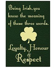 BEING IRISH YOU KNOW THE MEANING 11x17 Poster front