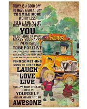 SCHOOL BUS- TODAY IS A GOOD DAY POSTER 11x17 Poster front