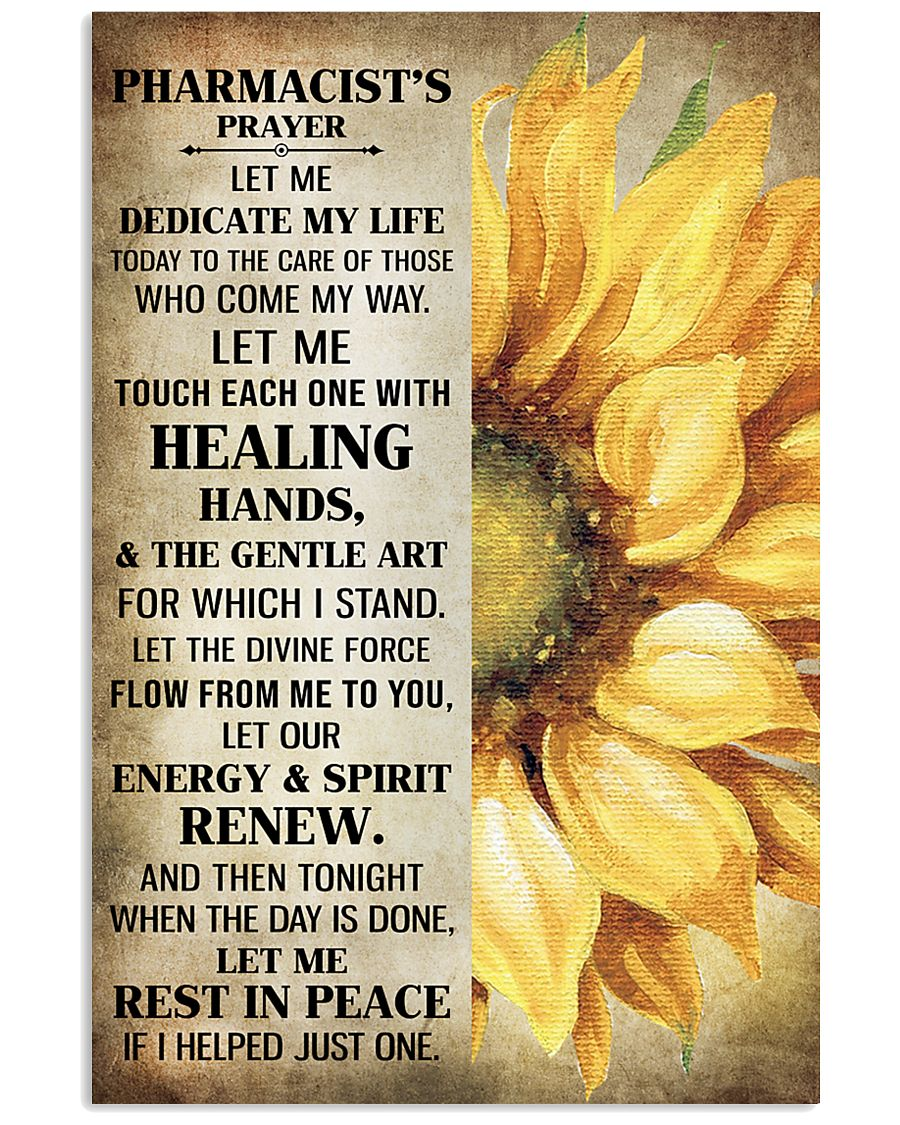 Pharmacist's prayer let me Dedicate my life Poster 11x17 Poster