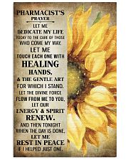Pharmacist's prayer let me Dedicate my life Poster 11x17 Poster front