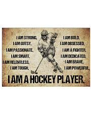 I AM A hockey player POSTER 17x11 Poster front