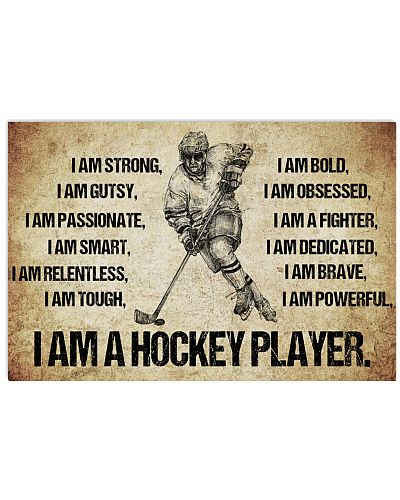 I AM A hockey player POSTER