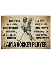 I AM A hockey player POSTER 24x16 Poster front