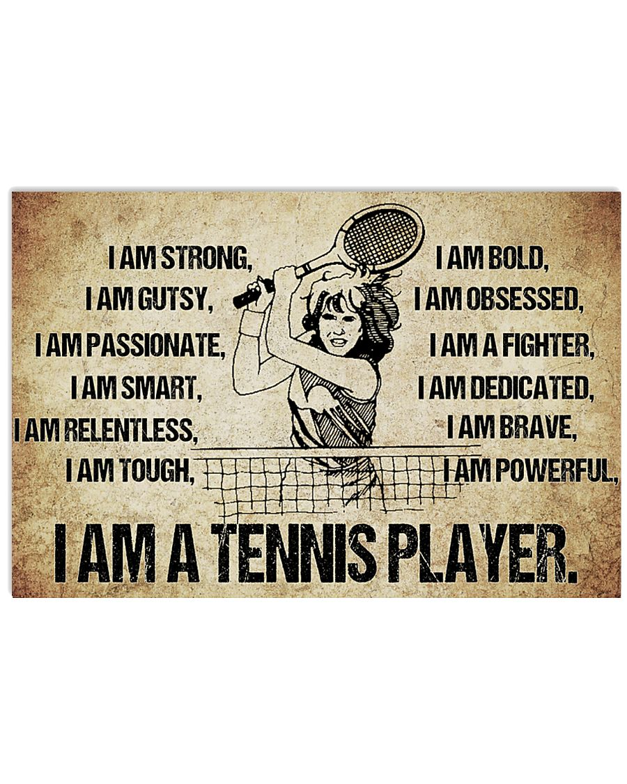 Tennis - I Am Poster - SKY 17x11 Poster