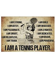 Tennis - I Am Poster - SKY 17x11 Poster front