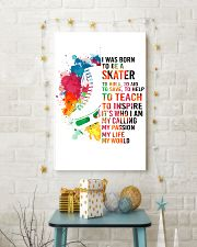 skater- I WAS BORN 11x17 Poster lifestyle-holiday-poster-3