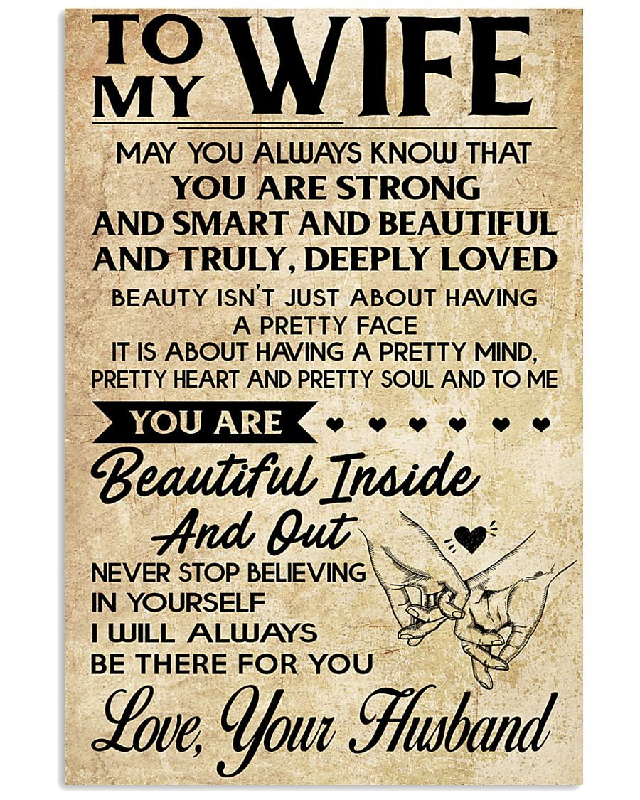 TO MY WIFE- YOUR HUSBAND 16x24 Poster