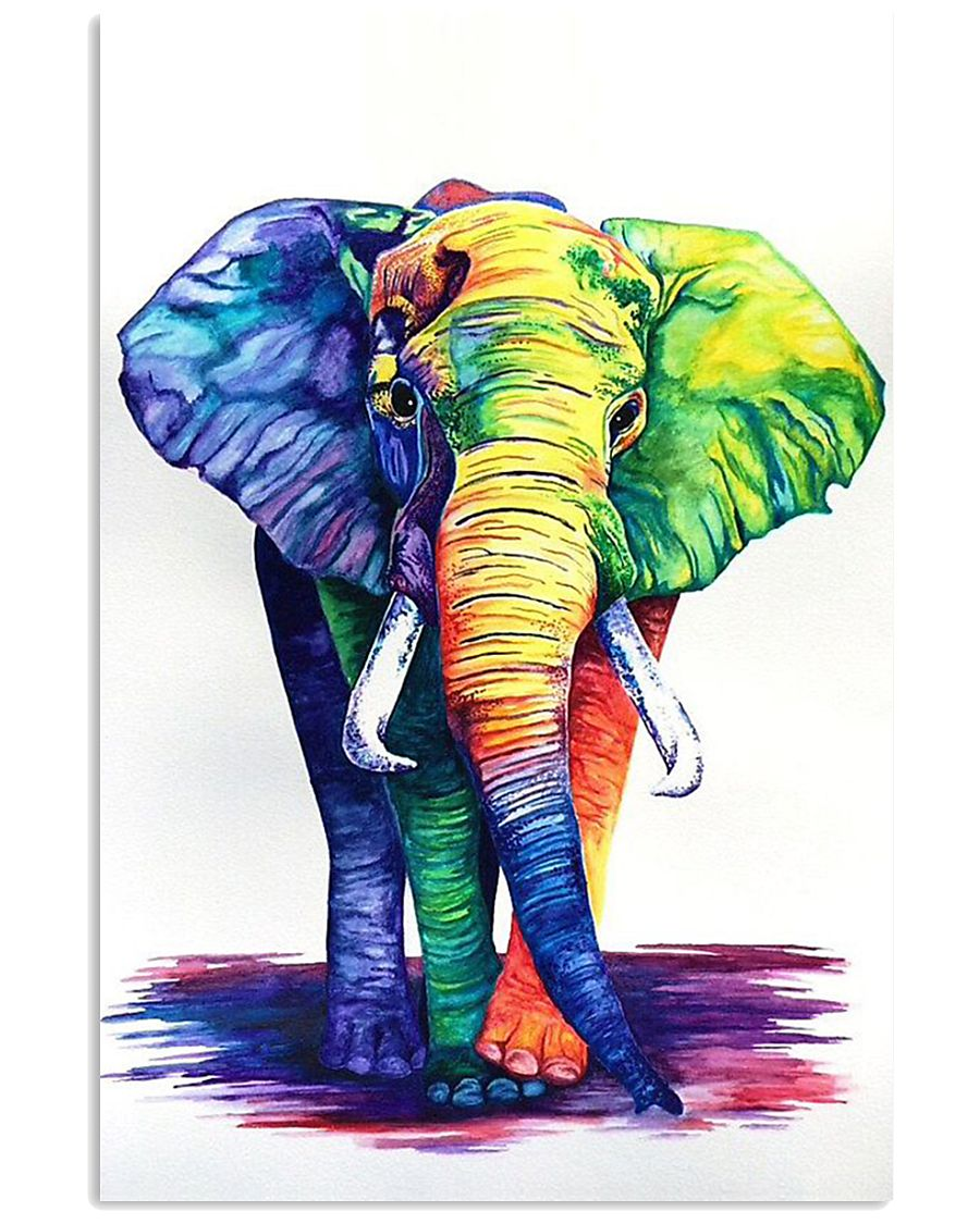 Elephants Beautiful Watercolor Poter GL - TL 11x17 Poster