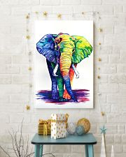 Elephants Beautiful Watercolor Poter GL - TL 11x17 Poster lifestyle-holiday-poster-3