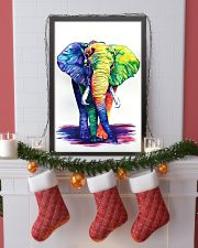 Elephants Beautiful Watercolor Poter GL - TL 11x17 Poster lifestyle-holiday-poster-4