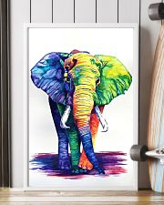 Elephants Beautiful Watercolor Poter GL - TL 11x17 Poster lifestyle-poster-4