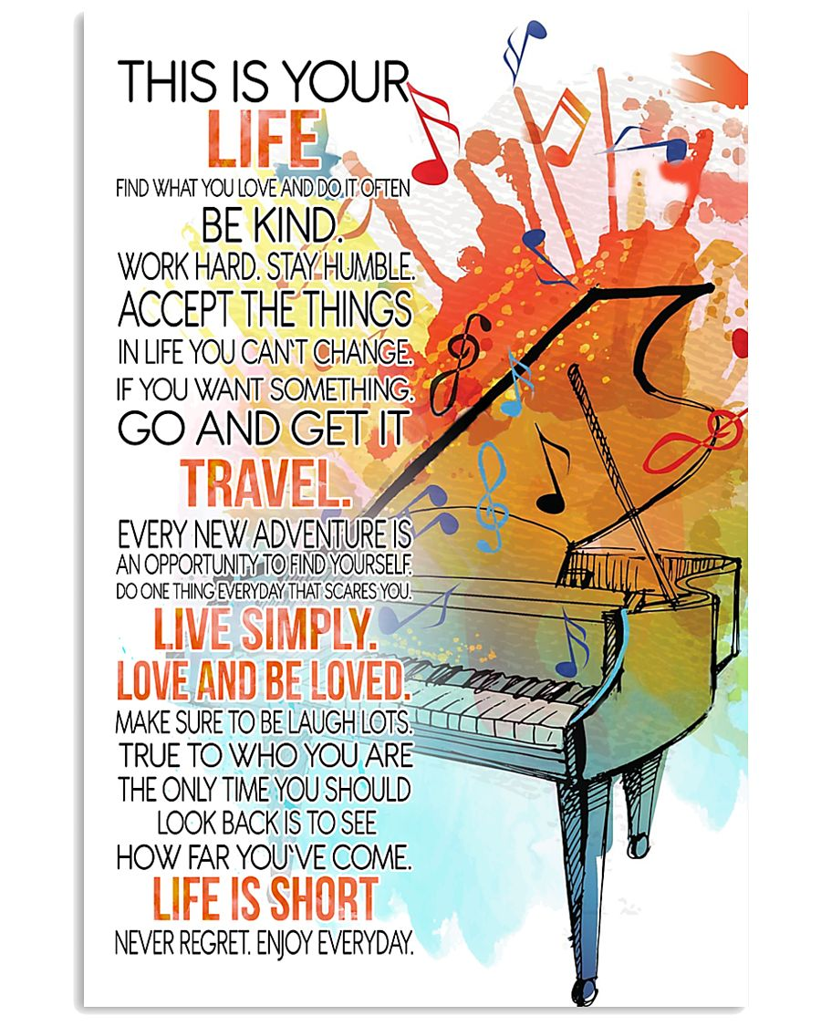 piano this is your life poster- LQT 16x24 Poster