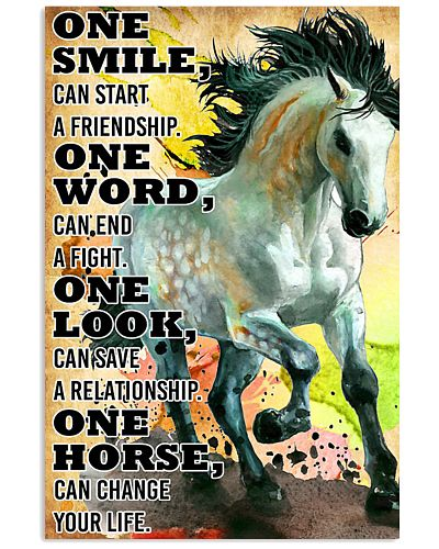 HORSE ONE SMILE POSTER