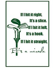 8-GOLF- IF I HIT IT RIGHT poster 11x17 Poster front