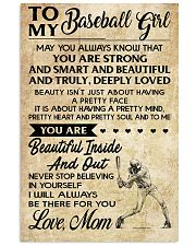TO MY BASEBALL GIRL- MOM 16x24 Poster front