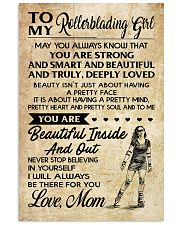 TO MY Rollerblading GIRL- MOM 16x24 Poster front