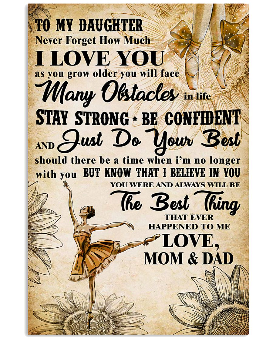 3 TO MY DAUGHTER - I LOVE YOU-Dance 11x17 Poster
