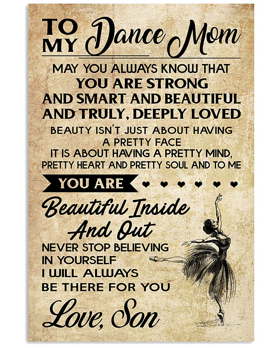 TO MY Dance mom - SON 16x24 Poster