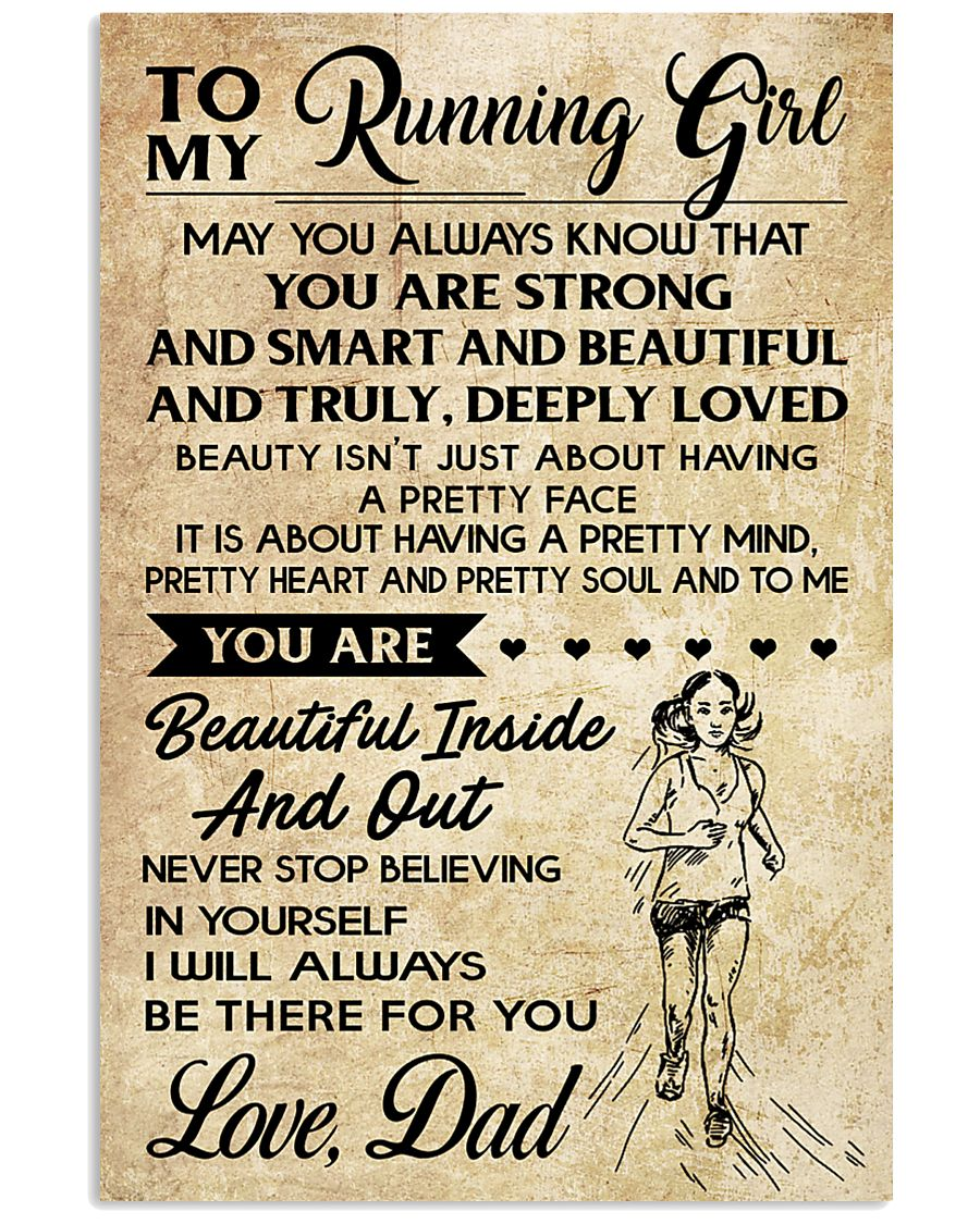 TO MY RUNNING - DAD 16x24 Poster