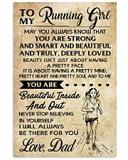 TO MY RUNNING - DAD 16x24 Poster front