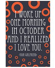 October- I WOKE UP ONE MORNING 16x24 Poster front