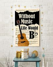 WITHOUT MUSIC LIFE WOULD - GUITAR POSTER 11x17 Poster lifestyle-holiday-poster-3