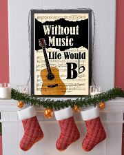 WITHOUT MUSIC LIFE WOULD - GUITAR POSTER 11x17 Poster lifestyle-holiday-poster-4