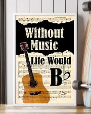 WITHOUT MUSIC LIFE WOULD - GUITAR POSTER 11x17 Poster lifestyle-poster-4