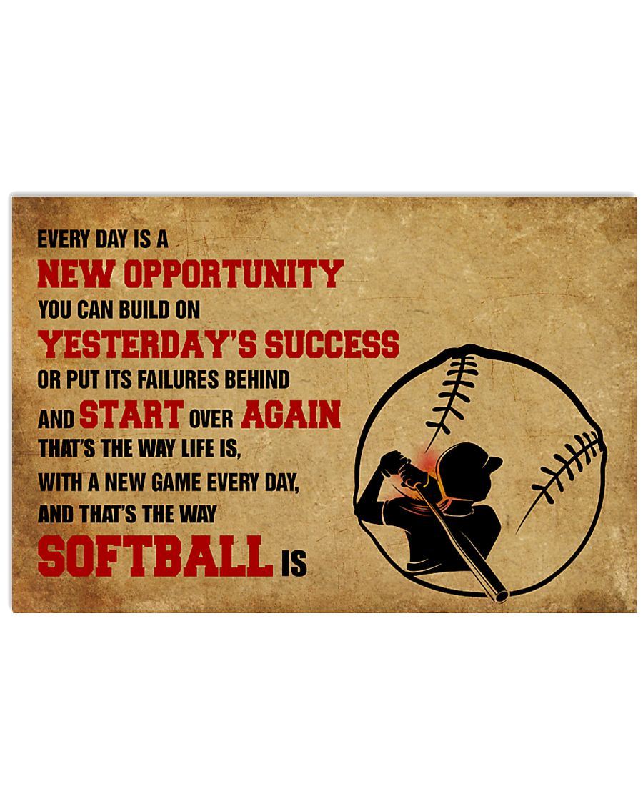SOFTBALL YESTERDAYS SUCCESS 17x11 Poster