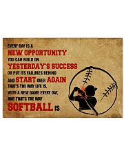 SOFTBALL YESTERDAYS SUCCESS 17x11 Poster front
