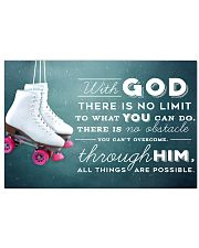 9- ROLLER SKATE WHITE - WITH GOD 17x11 Poster front