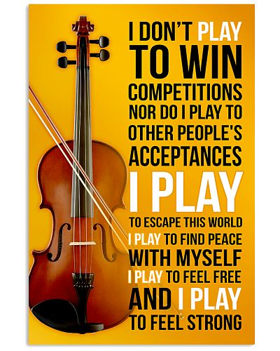 FIDDLE  - I DON'T PLAY TO WIN COMPETITIONS