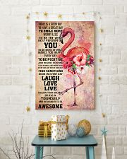Flamingo- TODAY IS A GOOD DAY POSTER 16x24 Poster lifestyle-holiday-poster-3