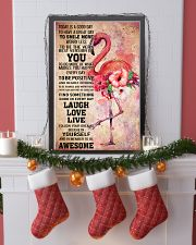 Flamingo- TODAY IS A GOOD DAY POSTER 16x24 Poster lifestyle-holiday-poster-4