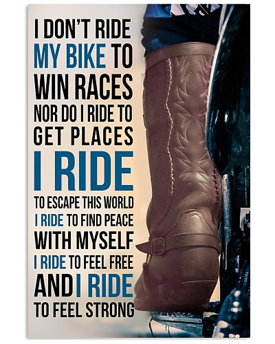 1- I DON'T RIDE MY BIKE TO WIN RACES - KD COWBOY