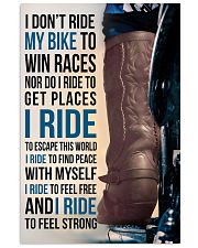 1- I DON'T RIDE MY BIKE TO WIN RACES - KD COWBOY  11x17 Poster front