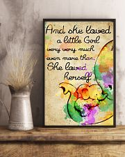 And she loved a little Girl 11x17 Poster lifestyle-poster-3