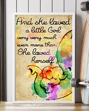 And she loved a little Girl 11x17 Poster lifestyle-poster-4