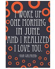 June- I WOKE UP ONE MORNING 16x24 Poster front