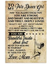 TO MY POLE DANCE GIRL- MOM 16x24 Poster front