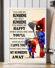 Elephants - you are my sunshine 16x24 Poster lifestyle-poster-4