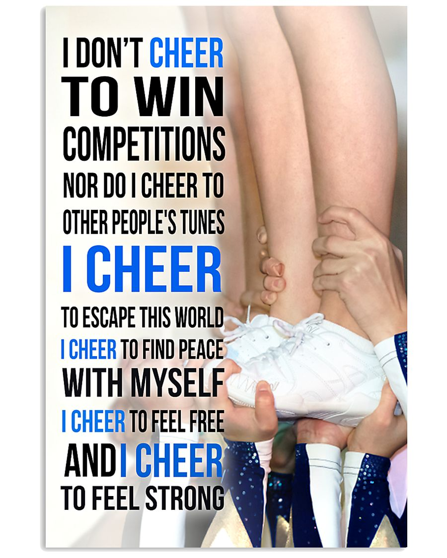 7- I DON'T CHEER TO WIN COMPETITIONS 11x17 Poster