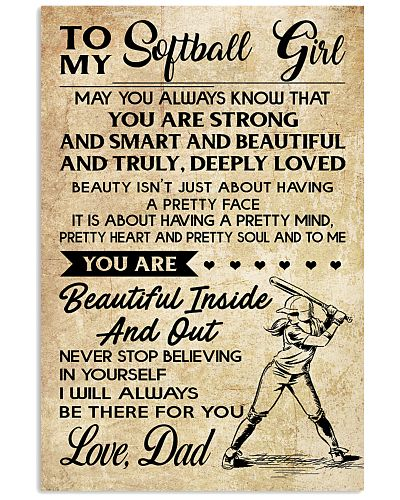 TO MY Softball Girl DAD