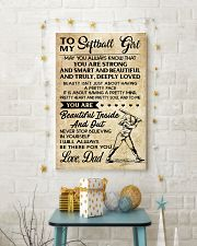 TO MY Softball Girl DAD 11x17 Poster lifestyle-holiday-poster-3