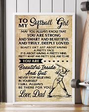 TO MY Softball Girl DAD 11x17 Poster lifestyle-poster-4